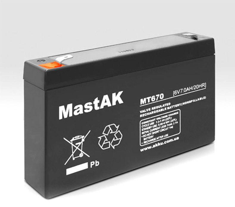 Аккумулятор MT670 Mastak (6V/7Ah)